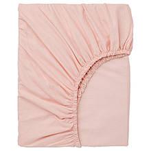 DVALA ДВАЛА, Простирадло на резинці, світло-рожевий140х200 см