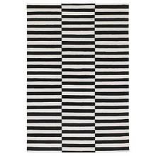 STOCKHOLM СТОКГОЛЬМ, Килим, пласке плетіння, ручна робота, смугастий чорний/кремово-білий170х240 см