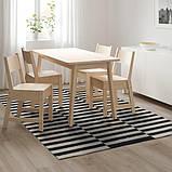 STOCKHOLM СТОКГОЛЬМ, Килим, пласке плетіння, ручна робота, смугастий чорний/кремово-білий170x240 см, фото 2