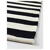 STOCKHOLM СТОКГОЛЬМ, Килим, пласке плетіння, ручна робота, смугастий чорний/кремово-білий170x240 см, фото 3