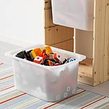 TROFAST ТРУФАСТ, Комбінація для зберіган +контейнери, світла білена сосна, білий44x30x91 см, фото 3