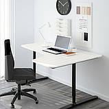 BEKANT БЕКАНТ, Стільниця з вирізом, правостороннім, білий160x110 см, фото 3