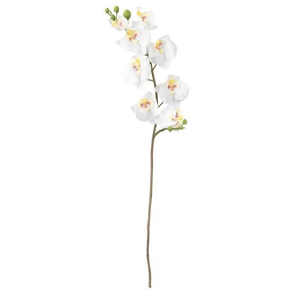SMYCKA СМЮККА, Штучна квітка, Орхідея, білий60 см
