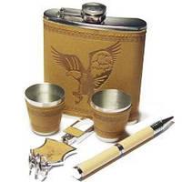 Подарок папе, набор с флягой, рисунок орла