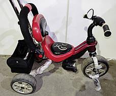 Б/У Велосипед трехколесный с родительской ручкой Lexus Trike красно-черный, фото 2