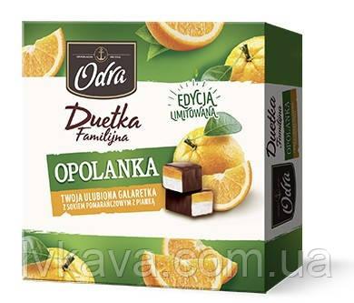 Конфеты желе в шоколаде  Duetka Opolanka pomaranczowa  Odra  , 420 гр