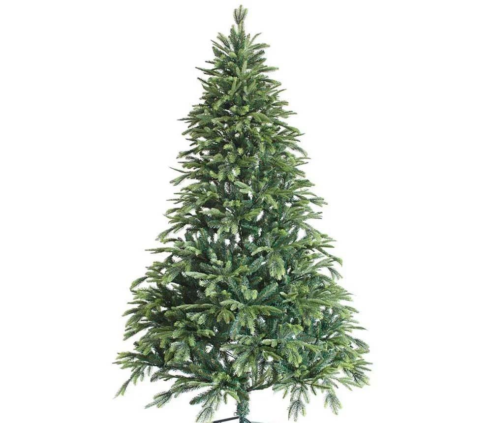 """Новогодняя искусственная елка 2,40 м литая """"Элегия"""" с двухцветными ветками"""