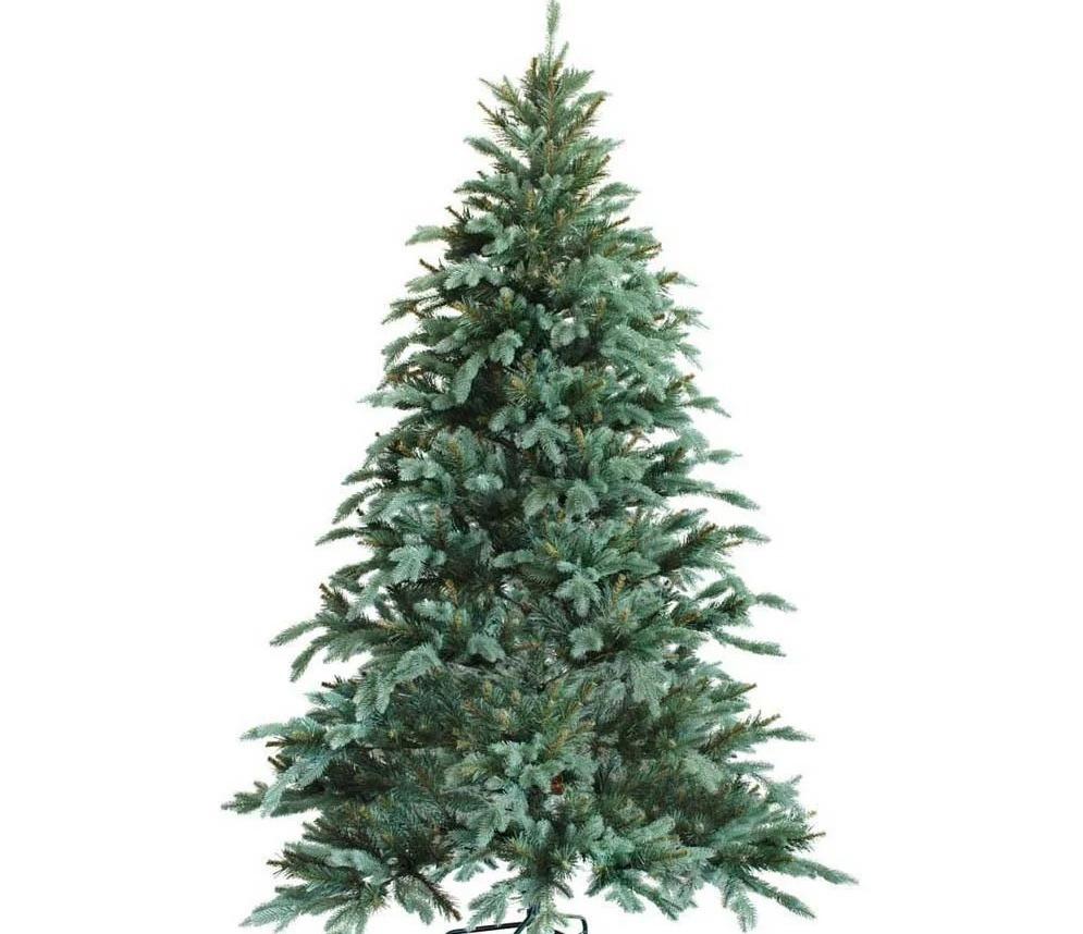 """Новогодняя искусственная елка 2,40 м литая """"Ситхинская"""" голубая"""