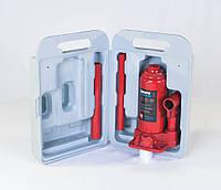 Домкрат бутылочный, 4т пластик, красный H=185/350 (арт.JNS-04PVC)