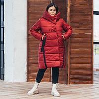 Удлиненная зимняя женская батальная куртка 48-62рр.