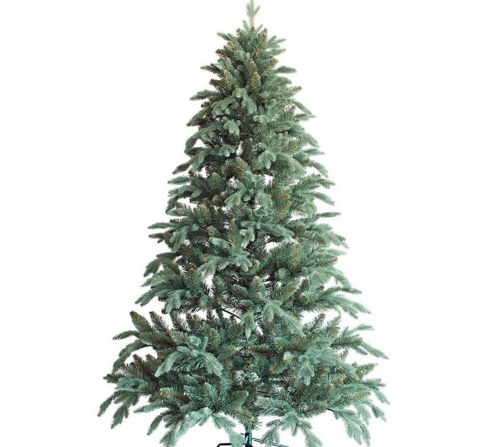 """Новогодняя искусственная елка 2,10 м литая """"Флора"""" голубая"""