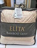 Одеяло Бамбуковое Гипоаллергенное Размер 155*215 см Бежевое Белое  В Чехле Турция Elita, фото 6