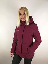Бордова жіноча куртка