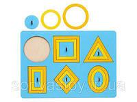 Игра Рамка-вкладыш Монтессори «Паутинка», 2+, фото 1