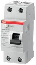 Диференціальне реле, ПЗВ, ABB FH202 AC-25/0,03, 25, 30 мА, AC