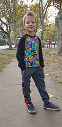 Серые спортивные штаны на мальчика  На рост 110 116 122 128   см  Венгрия