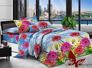 Полуторные комплекты постельного белья Поликоттон 3 D
