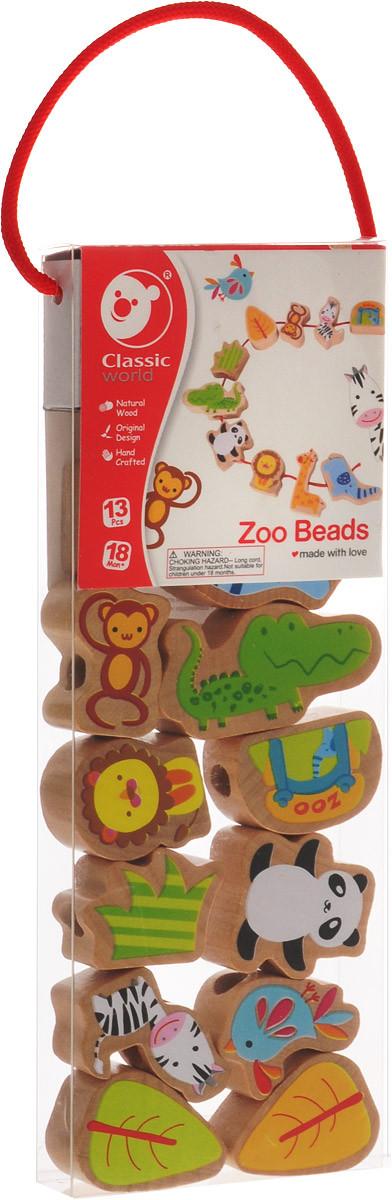 Шнуровка деревянная Зоопарк Classic World 3632