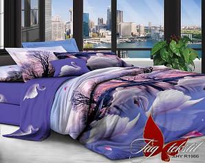 Двуспальные ЕВРО комплекты постельного белья Поликоттон 3 D