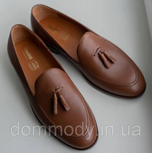 Туфли мужские из кожи Loafers brown