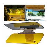 Антибликовый козырек для автомобиля HD VISION Visor Clear View, защита от солнца, фонарей, фар универсальный, фото 5
