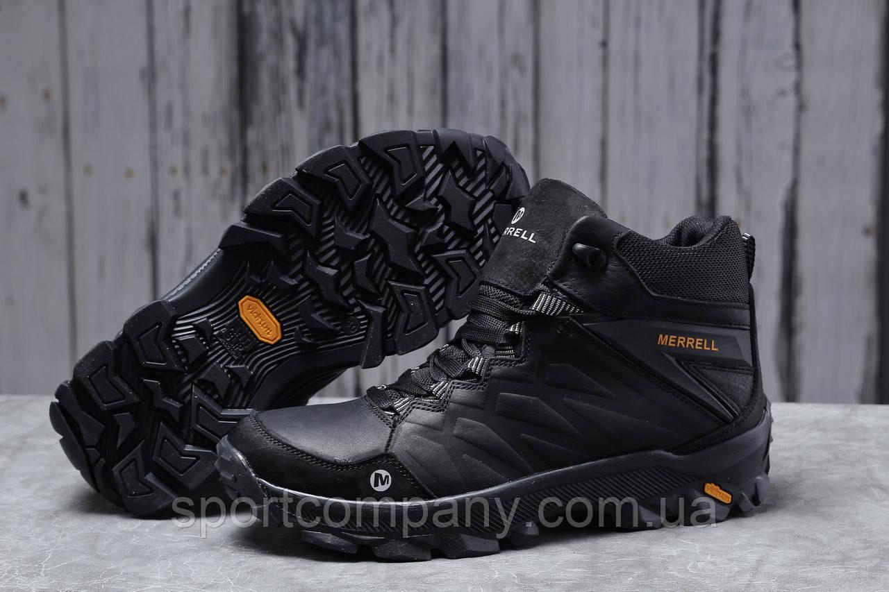 Зимние мужские кроссовки 31562, Merrell Vibrum (мех), черные, [ 40 41 ] р. 40-26,5см.