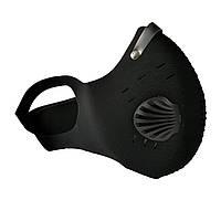 Защитная маска-респиратор с клапаном многоразовая, фото 1