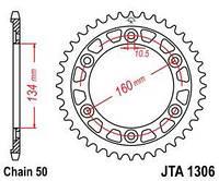 Звезда задняя легкосплавная JT JTA1306.40