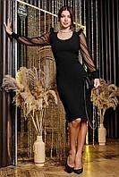 Платье 12-1646 - черный:  S М L XL, фото 1