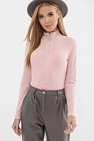 Удобное женское боди-гольф розового цвета, размер S, M, L, XL