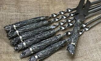 Vip наборы шампуров, рюмок, ножей. Корзины для пикника. Мангалы