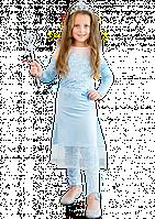 Карнавальный костюм Эльзы с лосинами для девочки, фото 1
