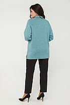 Элегантная женская туника-гольф из ангоры больших размеров с 50 по 60, фото 3