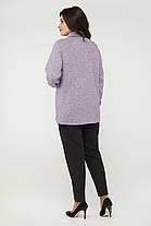 Женская тёплая туника-гольф из ангоры больших размеров с 50 по 60, фото 3