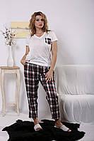 Домашний костюм: белая футболка и штаны в клетку Разные цвета Индивидуальный пошив
