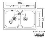 Кухонная мойка Kernau KSS G 804 2B SMOOTH 80*50 двойная стальная, фото 2