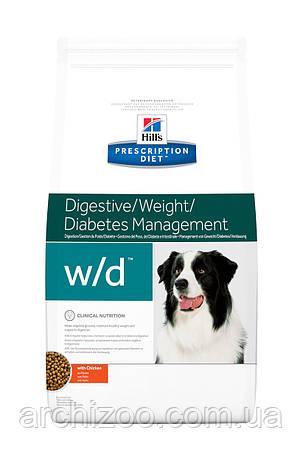 Hill's PD Canine W/D для собак при ожирении и сахарном диабете 12 кг, фото 2