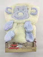 Дитячий плед ковдру Туреччина для новонародженого махра подарунок новонародженому біле (НДП10)
