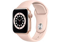 Смарт часы Apple Watch Series 6 GPS 44mm Gold Aluminium Case with Pink Sand Sport Band M00E3