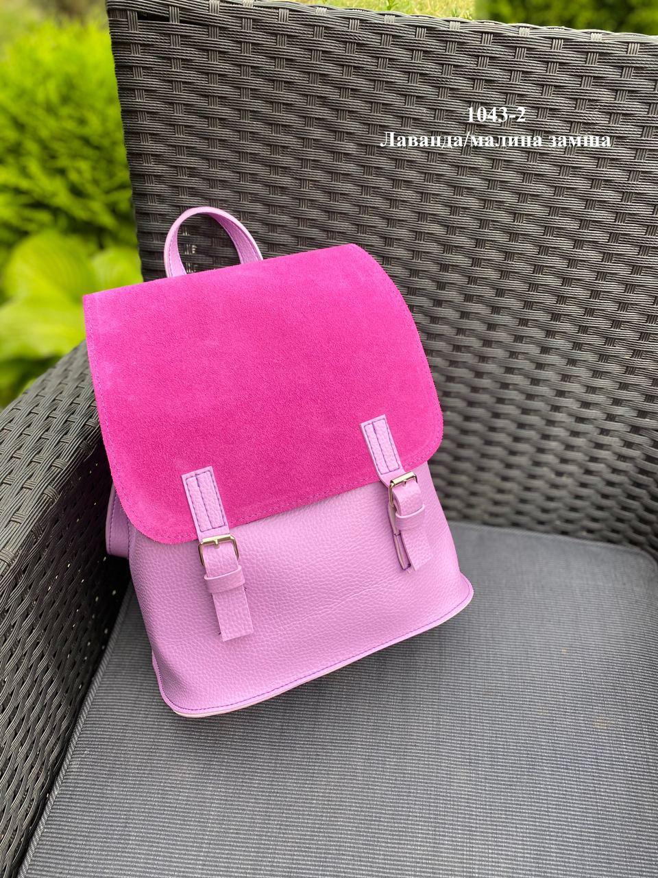 Женский рюкзак кожзам/натуральная замша комбинированный