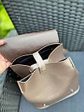 Женский рюкзак кожзам/натуральная замша комбинированный, фото 6