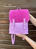 Женский рюкзак кожзам/натуральная замша комбинированный, фото 8