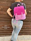 Женский рюкзак кожзам/натуральная замша комбинированный, фото 9