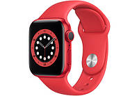 Смарт-часы Apple Watch Series 6 GPS 44mm PRODUCT(RED) Aluminium Case with Red Sport Band M00M3