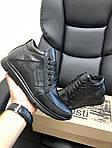 Чоловічі шкіряні зимові черевики Vankristi (чорні) 9965, фото 5