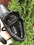 Чоловічі шкіряні зимові черевики Vankristi (чорні) 9965, фото 3
