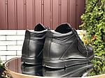 Чоловічі шкіряні зимові черевики Vankristi (чорні) 9965, фото 2