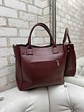 Женская комбинированная сумка кожзам/натуральная замша, фото 3