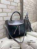 Женская комбинированная сумка кожзам/натуральная замша, фото 8