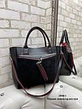Женская комбинированная сумка кожзам/натуральная замша, фото 5